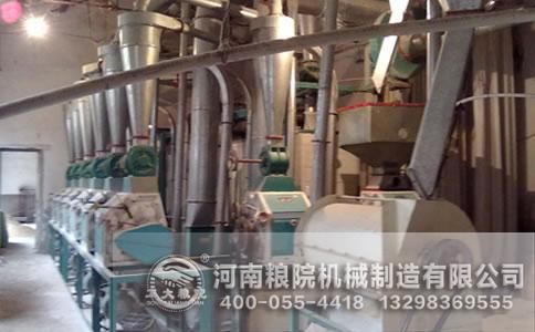 山西晋城60吨玉米加工设备安装调试现场